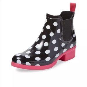 Kate Spade Trudy Polka Dot Rain Boots Ankle Short